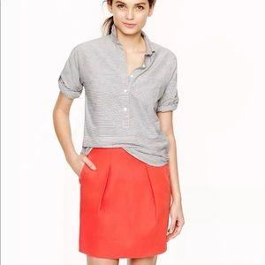 J. Crew mini flare skirt
